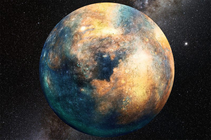 Művészi illusztráció a tizedik bolygóról.