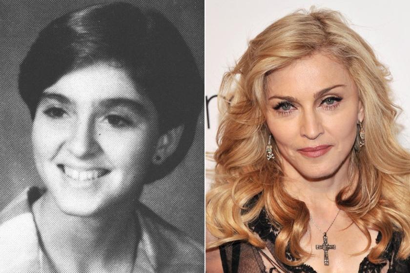 Nem gondolnánk, hogy Madonna még csak tizenéves volt az első fotón - jót tett neki a hajszínváltás: szőke sörényével jóval fiatalosabbnak tűnik.