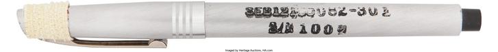 """Filctollakat is használ a NASA: ez a fekete Duro """"Rocket"""" Marker Pen az Apollo-9 küldetés során járt az űrben, a tollat a brooklyni Duro Pen Co. gyártotta. (1969)"""