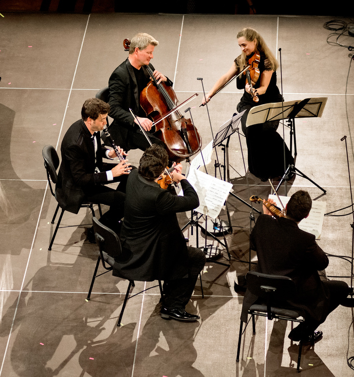 A Kelemen Kvartett és Thorsten Johanns (klarinét) a Fesztiválakadémia zárókoncertjén, 2017