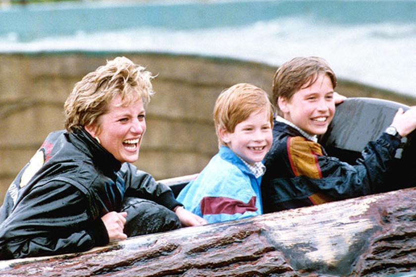 Egy lopott nap a vidámparkban a fiúkkal - látszik, hogy Diana egyedül velük volt igazán boldog.