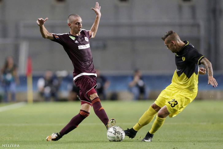 Szivacski Donát a Beitar Jeruzsálem elleni EL-selejtező meccsen.