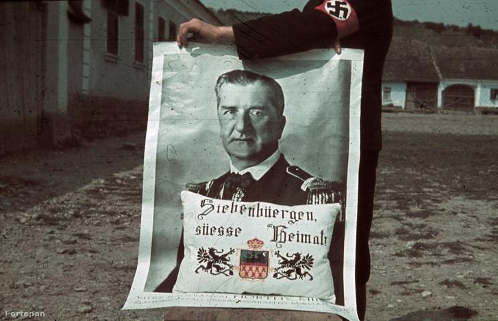 Románia, Erdély, Nagydemeter. A felvétel a magyar csapatok bevonulása idején készült, 1940-ben.