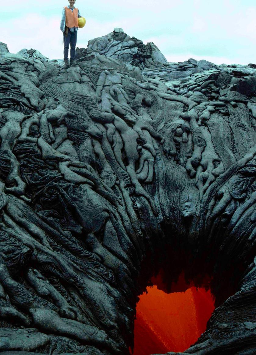 Lelkek a pokol kapujában - furcsa alakban megszilárdult láva.