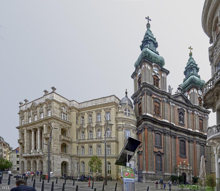 Az ELTE ÁJK épülete a budapesti Egyetem téren