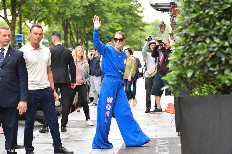 Nem különösebben divatosak most a bő nadrágszárak, illetve a trapéznadrágok, de Céline Dion imádja őket
