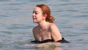 Lindsay Lohan is már csak egy átlagos nő a strandon