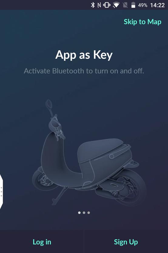 Regisztráció előtt - az app lesz a kulcsunk a robogókhoz