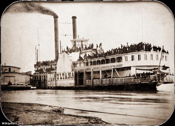 A Sultana 1865. április 26-án Helena kikötőjében