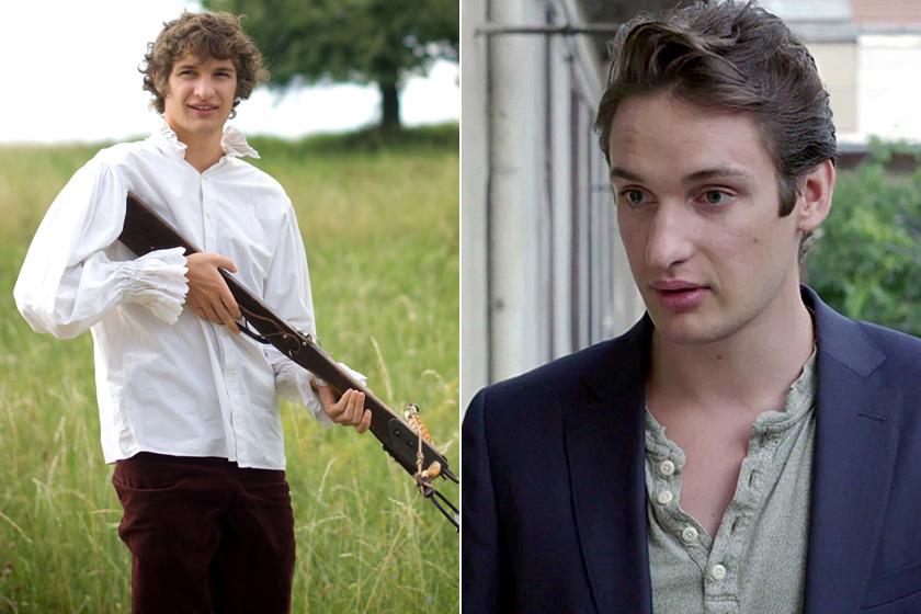 Bal oldalon Ladányi Jákob az Oda az igazság forgatásán. Jobb oldalon a Láthatatlanul című filmben.