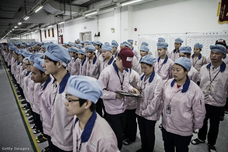 Az Apple sanghaji üzemében