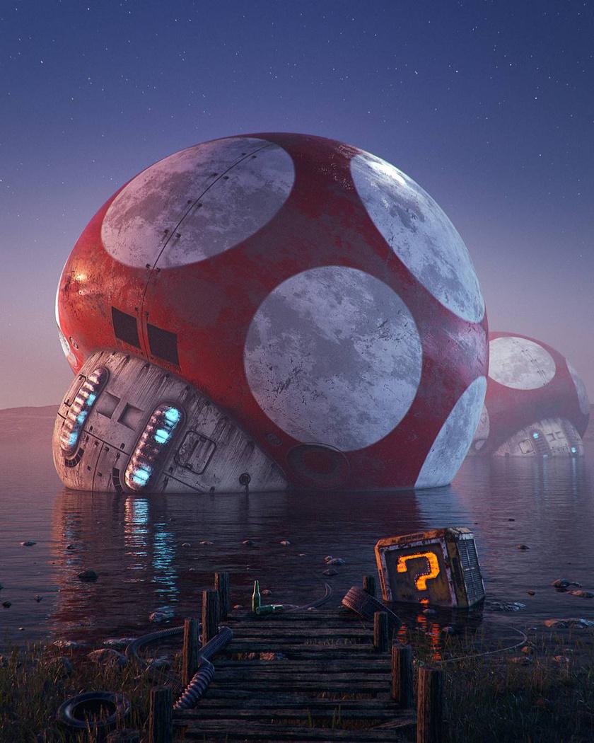Emlékszel még Mario gombáira? Hoodass képzeletében így érnek szomorú véget.