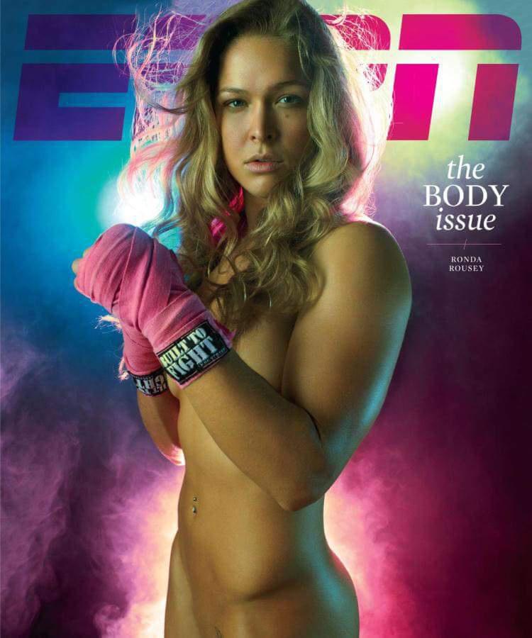 Ronda Rousey az ESPN Body Issue kiadványának címlapján