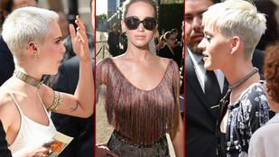 Hemzsegnek a csinos celebnők a párizsi divathéten