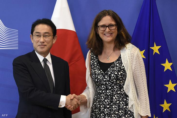 Fumio Kisida és Cecilia Malmström
