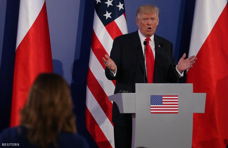 Donald Trump Varsóban