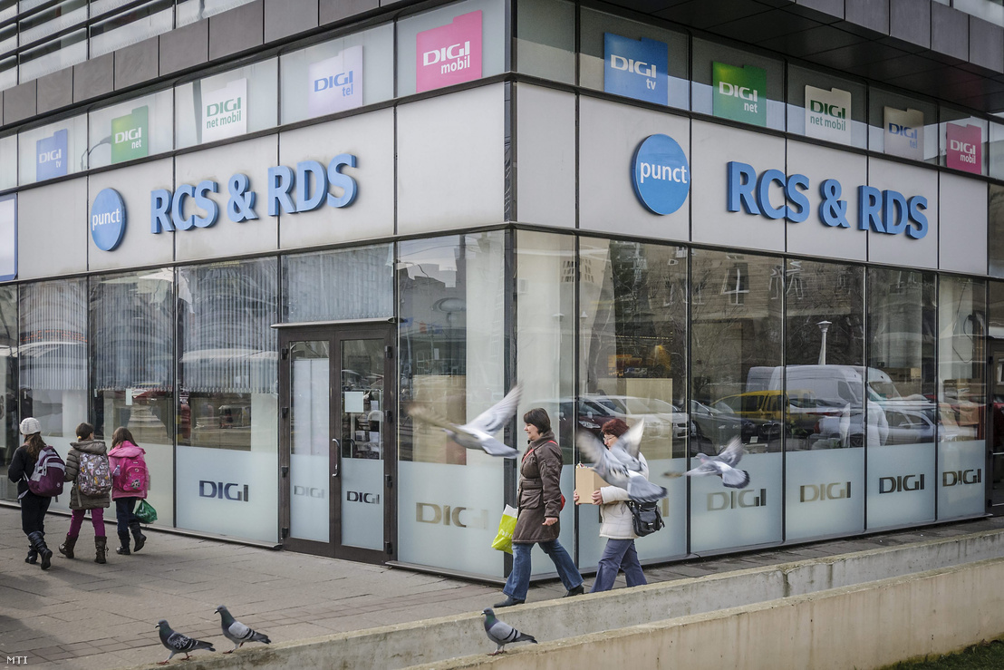 Az RCS RDS távközlési vállalat üzlete a romániai Nagyváradon 2014. február 18-án. A vállalat a Digi Távközlési és Szolgáltató Kft. tulajdonosának a romániai magyar vállalkozó Teszári Zoltánnak érdekeltségébe tartozik.