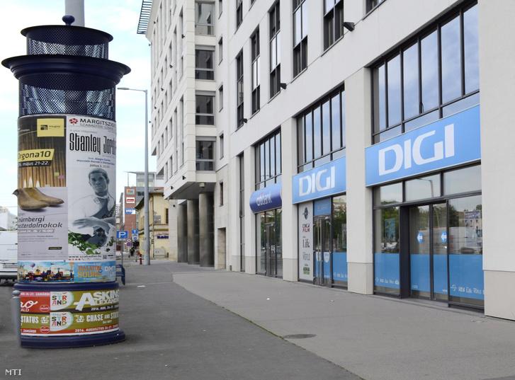 A DIGI Távközlési És Szolgáltató Kft. portálja Budapest XIII. kerületében a Váci út és a Dózsa György út találkozásánál.