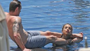 Elég furákat csinál a medencében az Öngyilkos osztag sztárja a feleségével