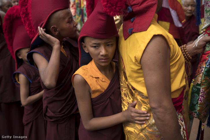 Nepáli buddhisták, 2017. májusában, Buddha születésének ünnepén.