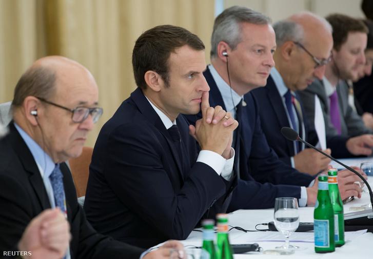 Emmanuel Macron a G20 megbeszélésen