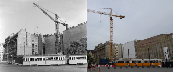 építékezés a kossuth téren