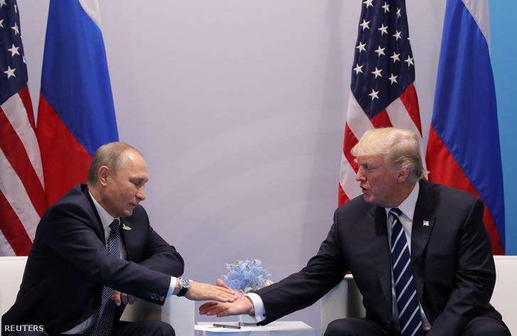 Putyin és Trump Hamburgban a G20 találkozón
