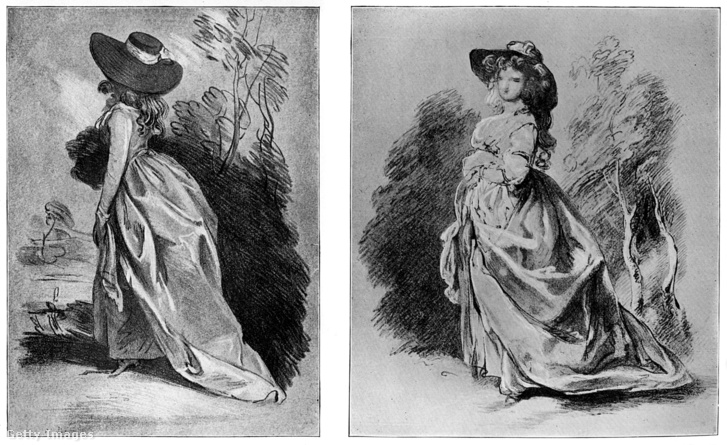 Gainsborough ceruzarajz tanulmánya egyik leghíresebb portréjához, a Duchess of Devonshire-hez (c1787) (A kép nem a most megtalált kollekció része)