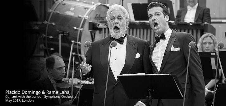 Plácido Domingo és Rame Lahaj