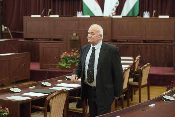 Hajdu László a Fővárosi Közgyűlés ülésén.
