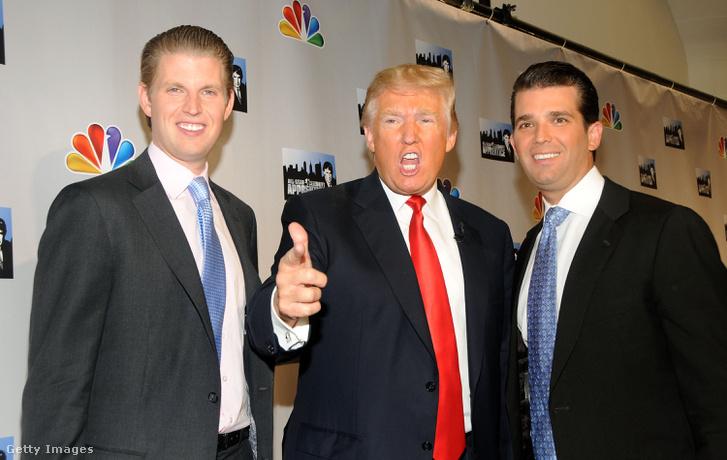 Donald Trump fiaival, Eric-kel és Donald Jr.-al.
