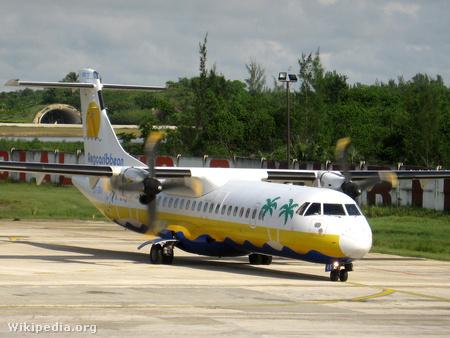 Az Aerocaribbean egyik ATR 72-ese a négyből