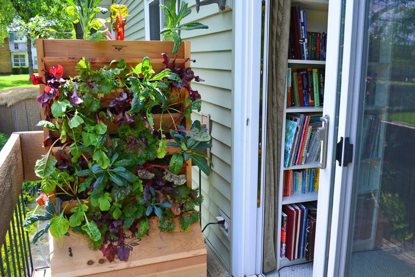 Különleges hangulatot teremthetsz a függőlegesen elhelyezett leveles zöldségek változatos típusaival.
