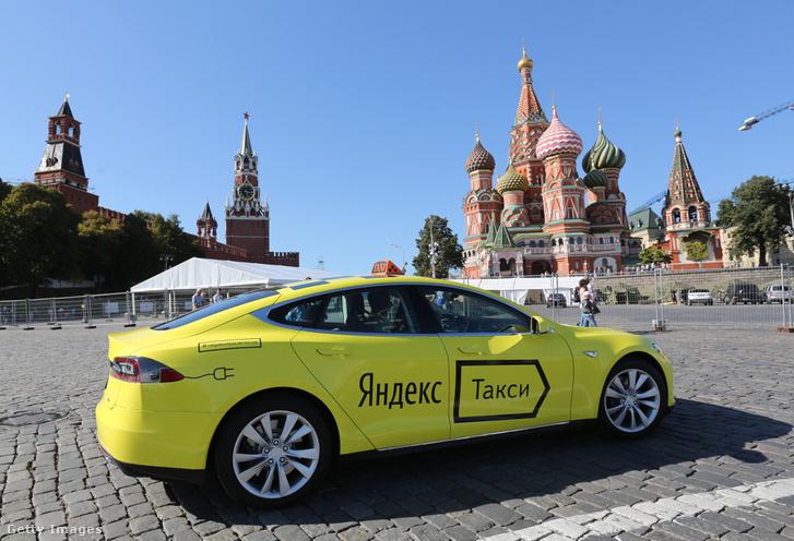 Yandex Taxi a Vörös téren