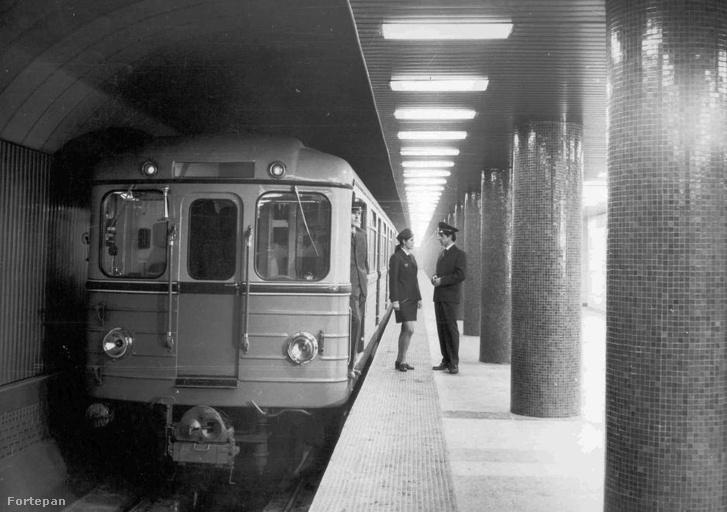 Metróvezető és forgalmista az Astoriánál 1977-ben