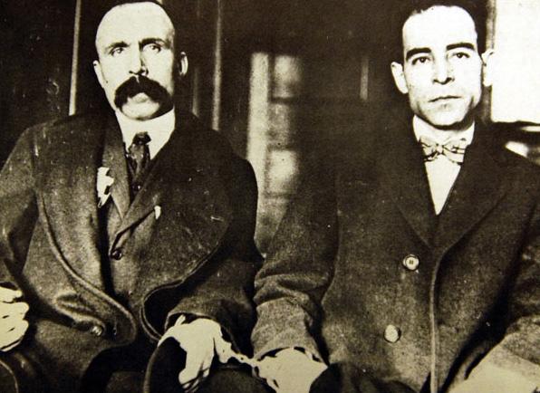 Bartholomeo Vanzetti (1888 - 1927) és Nicola Sacco (1891 - 1927)