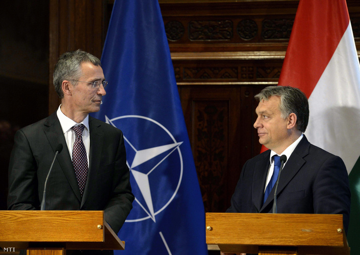 Jens Stoltenberg, a NATO főtitkára és Orbán Viktor találkozója Budapesten, 2015 novemberében