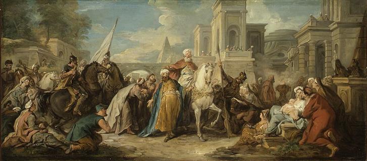 Jean François de Troy: Márkodeus győzelme (ca 1736) - Louvres