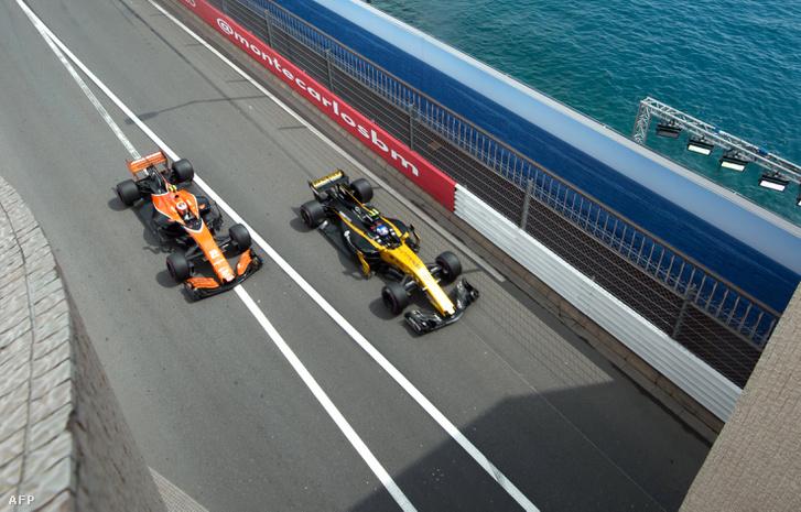 McLaren és Renault Monacóban