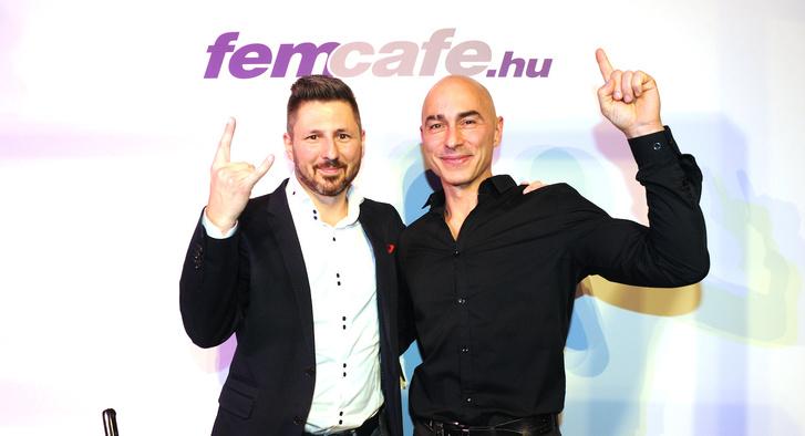 Csereklei Zoltán és Rippl Ferenc a Femcafe születésnapi partyán.
