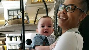A nap leghelyesebb párja: a vásárolgató Janet Jackson és féléves kisfia