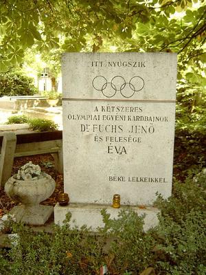 Fuchs Jenő sírja Budapesten, az Új köztemetőben