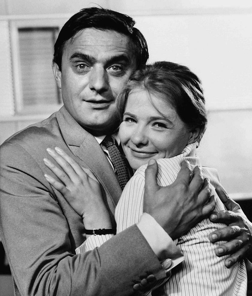 Törőcsik Mari és Avar István a Tilos a szerelem című filmben 1965-ben.