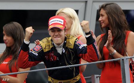 2008 szeptember 14, Monza, az első futamgyőzelem