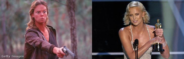 Balra:A rém c. filmben. Jobbra: A szerepéért kapott Oscar-díjjal 2004-ben.