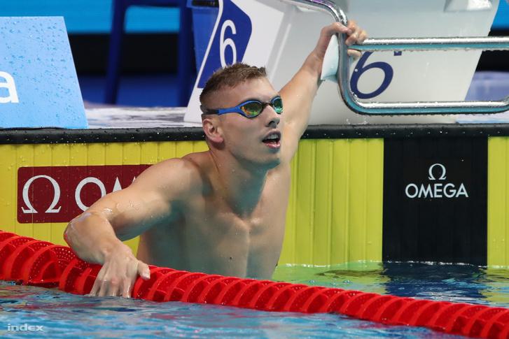 Kozma Dominik a férfi 200 méteres gyorsúszás elődöntője után