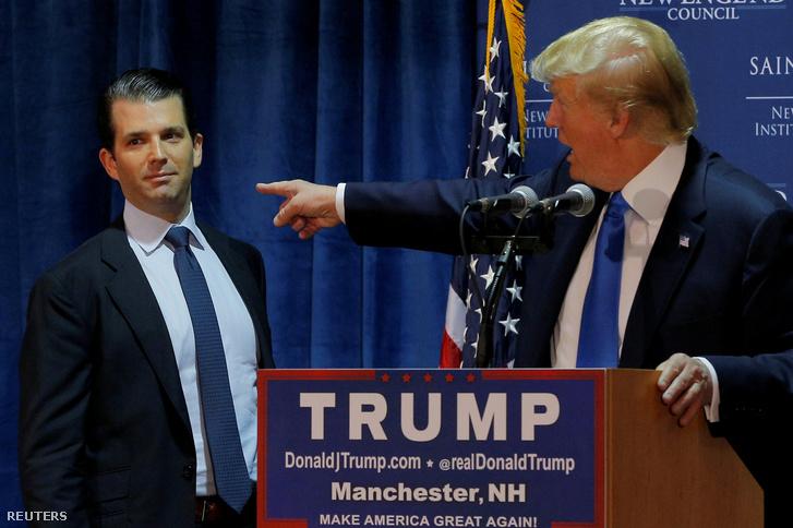 Az ifjabb és az idősebb Donald Trump az elnökválasztási kampányban