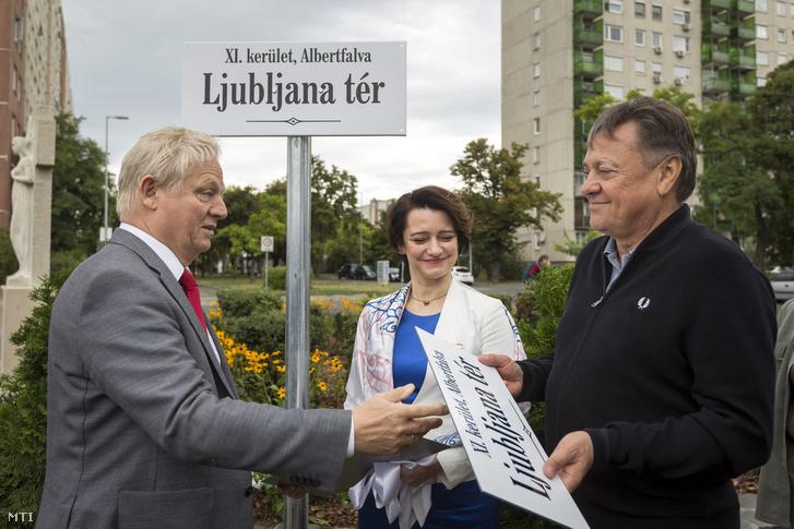 Tarlós István, Budapest főpolgármestere,és Zoran Jankovic, Ljubljana polgármestere