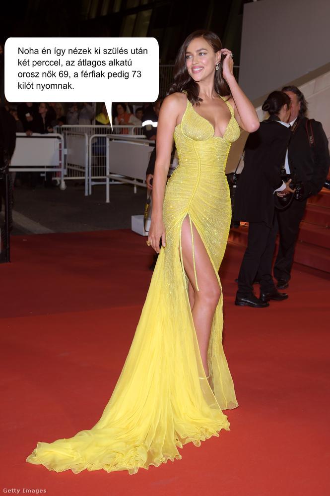 Irina Shayk orosz modell, Bradley Cooper felesége, és egy háromhónapos kislány anyukája