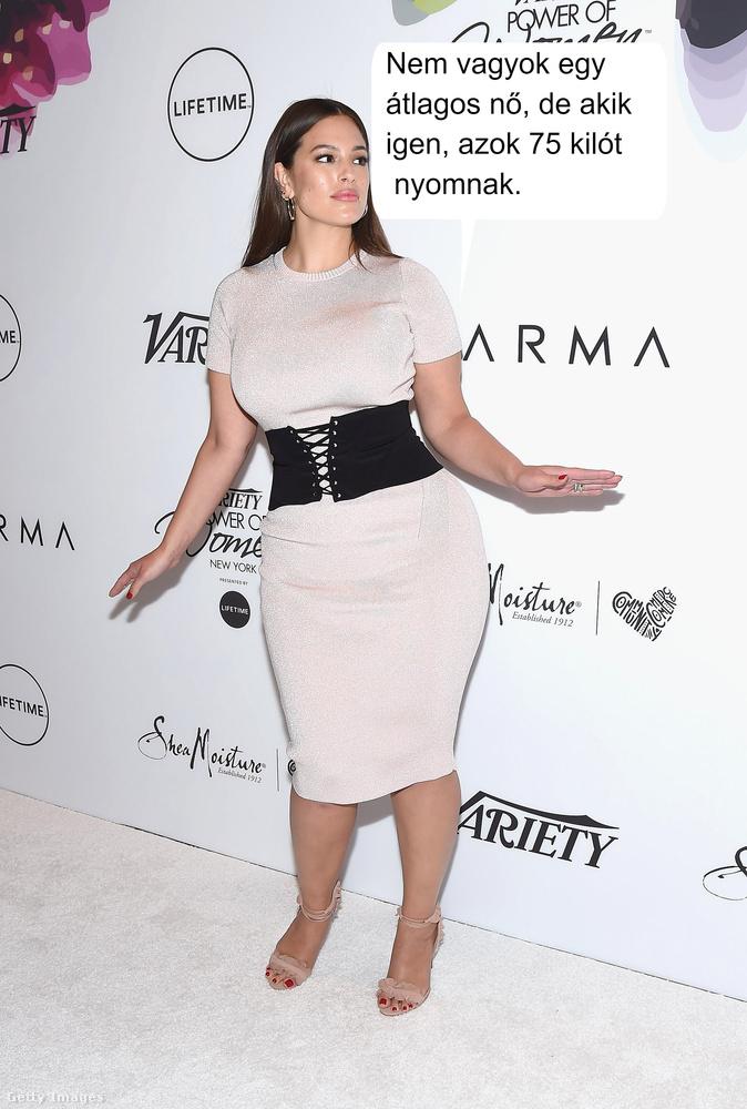 Ashley Graham sikeres plus size modell, szóval ő semmiképp sem számít átlagos testalkatúnak